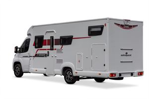 Rear image of the Elddis Autoquest 194 motorhome