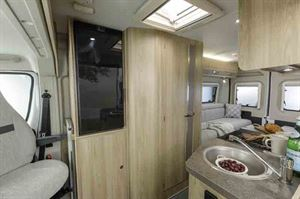 The kitchen is well equipped considering the price of this motorhome