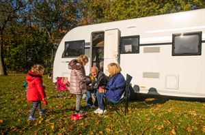 Autumn camping at Blackmore Camping and Caravanning Club site (photo courtesy the Camping and Caravanning Club)
