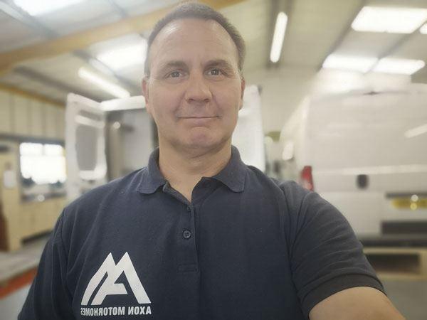 Chris Axon, of Axon Motorhomes