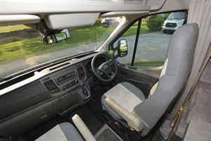The cab in the Bailey Adamo 75-4DL motorhome