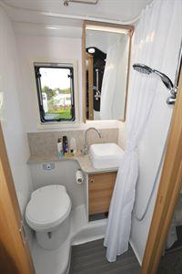 The washroom in the Bailey Adamo 75-4DL motorhome