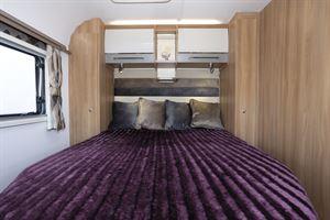 The bed in the Bailey Alicanto Grande Faro caravan