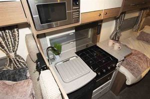 Kitchen, with hob and microwave