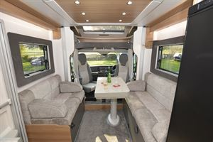 The front lounge in the Bailey Adamo 75-4DL motorhome