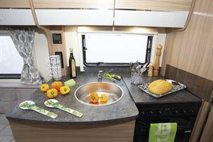 The kitchen has plenty of worktop space
