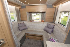 The rear lounge in the Bailey Adamo 75-4DL motorhome