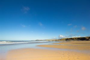 The beaches close to Padstow are golden and sandy