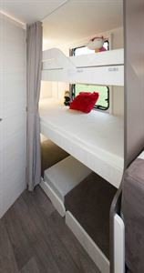Beds for three little caravanners