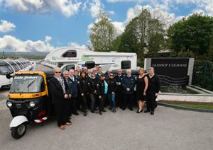 The Beijing Bidde with the Glossop Caravans team