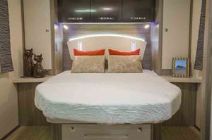 The island bed layout is a big reason for choosing this motorhome