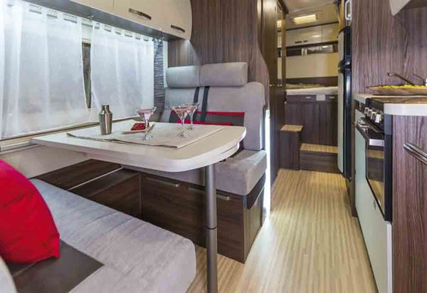 The smart lounge in the Benimar Mileo 346 - picture courtesy of Benimar