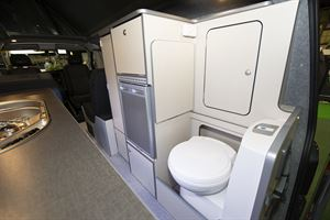 It features a rear fitted cassette toilet