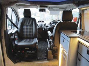 Cab seats in the Camper conversions Brawbus