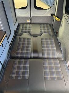 Seats flat to make a bed