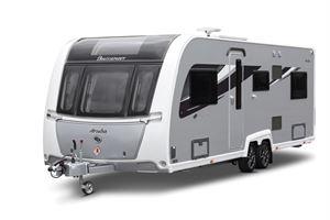 The exterior of a Buccaneer Aruba caravan
