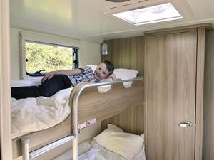 Bunk beds are a great feature for caravanning families