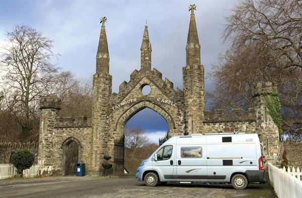 The campervan parked in Kenmore - picture courtesy of Felicity Martin