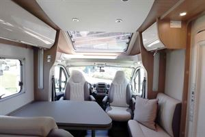 The Burstner Ixeo T 728 G interior view front lounge
