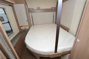 The bed, in the rear of the motorhome © Warners Group Publications