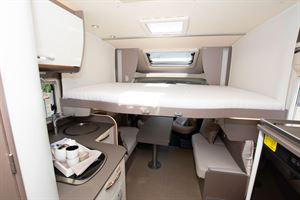 The drop down double over the front lounge in the The Bürstner Lyseo TD 736 Harmony motorhome