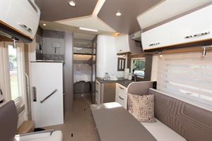 View from the front to the rear in the The Bürstner Lyseo TD 736 Harmony motorhome