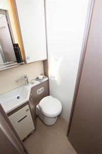 The washroom in the The Bürstner Lyseo TD 736 Harmony motorhome