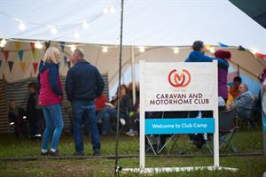 The club's pop-up site at Countryfile Live