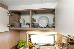 Spacious kitchen cupboards