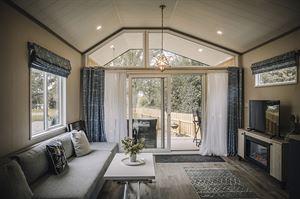 Living area of the lodge (photo courtesy of Blaithwaite Estate)