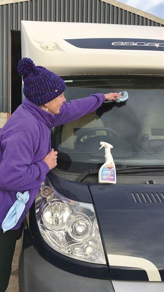 Spring cleaning a motorhome or campervan