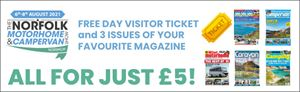 Pre-book your subscription and get a free day out at the Norfolk Motorhome & Campervan Show