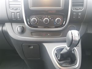 Close up of the dashboard in the Calder Campers Renault Trafic Auto campervan