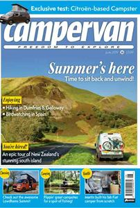 The June 2019 issue of Campervan magazine