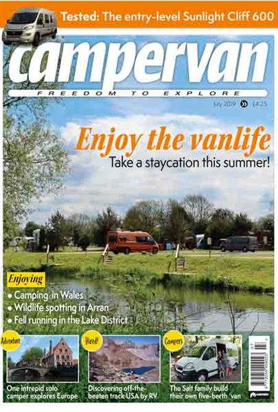 The July issue of Campervan magazine is out now
