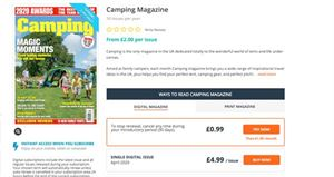 Camping magazine is available as both a digital magazine and a printed one