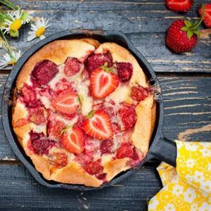Scrumptious strawberry clafoutis (photo courtesy of Campingaz)