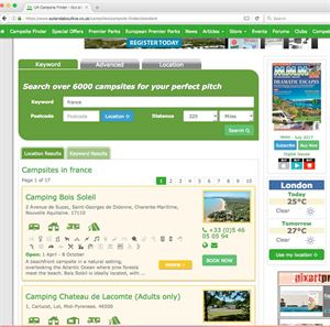 Campsite Finder now has over 6,000 campsites listed