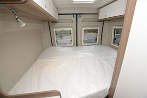 The bed in the Carado V600 Clever + Edition campervan