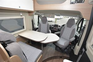 The cab in the Carado V600 Clever + Edition campervan