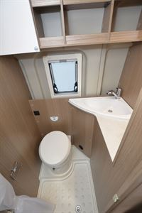 The washroom in the Carado V600 Clever + Edition campervan