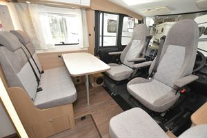 The cab in the Carado I 338 Clever A-class motorhome