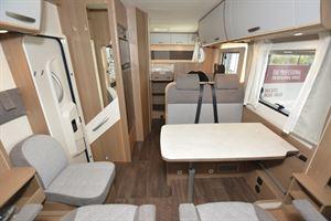 Inside the Carado I 338 Clever A-class motorhome