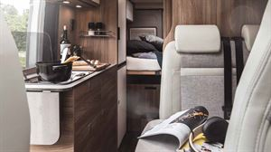 The interior of the Carado Vlow 640 Unlimited campervan