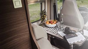 The lounge and dining area in the Carado Vlow 640 Unlimited