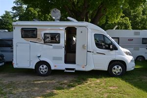 A side on view of the Carado V132 motorhome