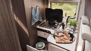 The kitchen in the new Carado T334