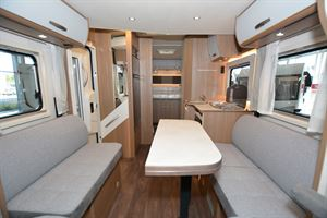 The interior in the Carado T459 Clever Plus