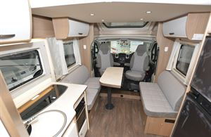 The lounge area in the Carado T459 Clever Plus