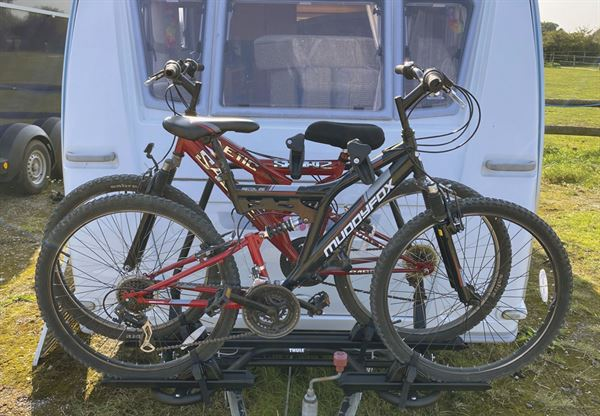 How fit an A-Frame rack on a caravan for your cycles